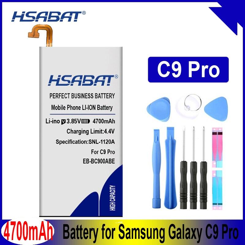 HSABAT 4700mAh EB-BC900ABE batería para Samsung Galaxy C9 Pro Galaxy C9 Pro Duos... SM-C9000... SM-C9008... SM-C900F... SM-C900Y