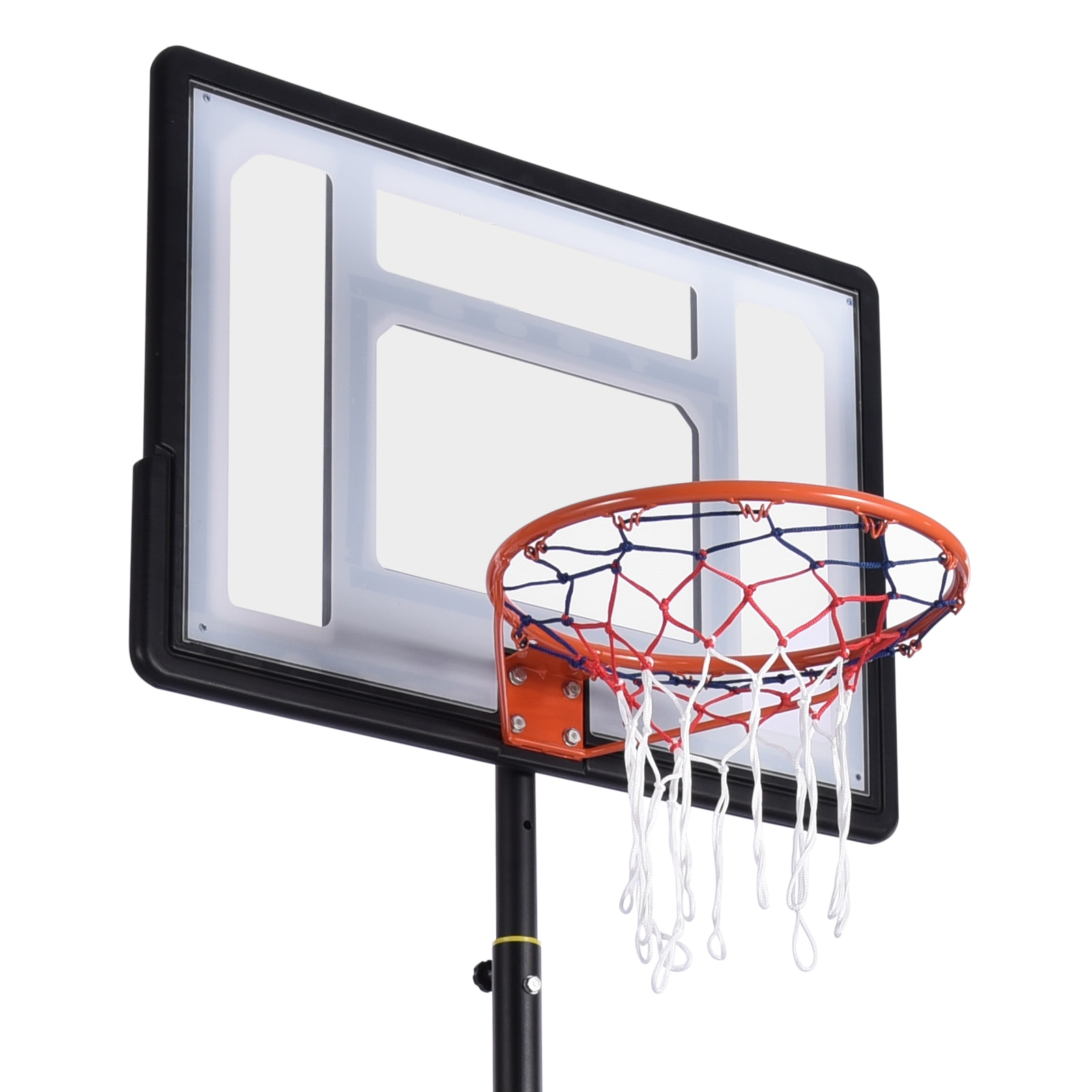 PVC Basketball Stands Height Adjustable Kids Basketball Goal Hoop Toy Set Basketball For Boys Training Practice Accessories