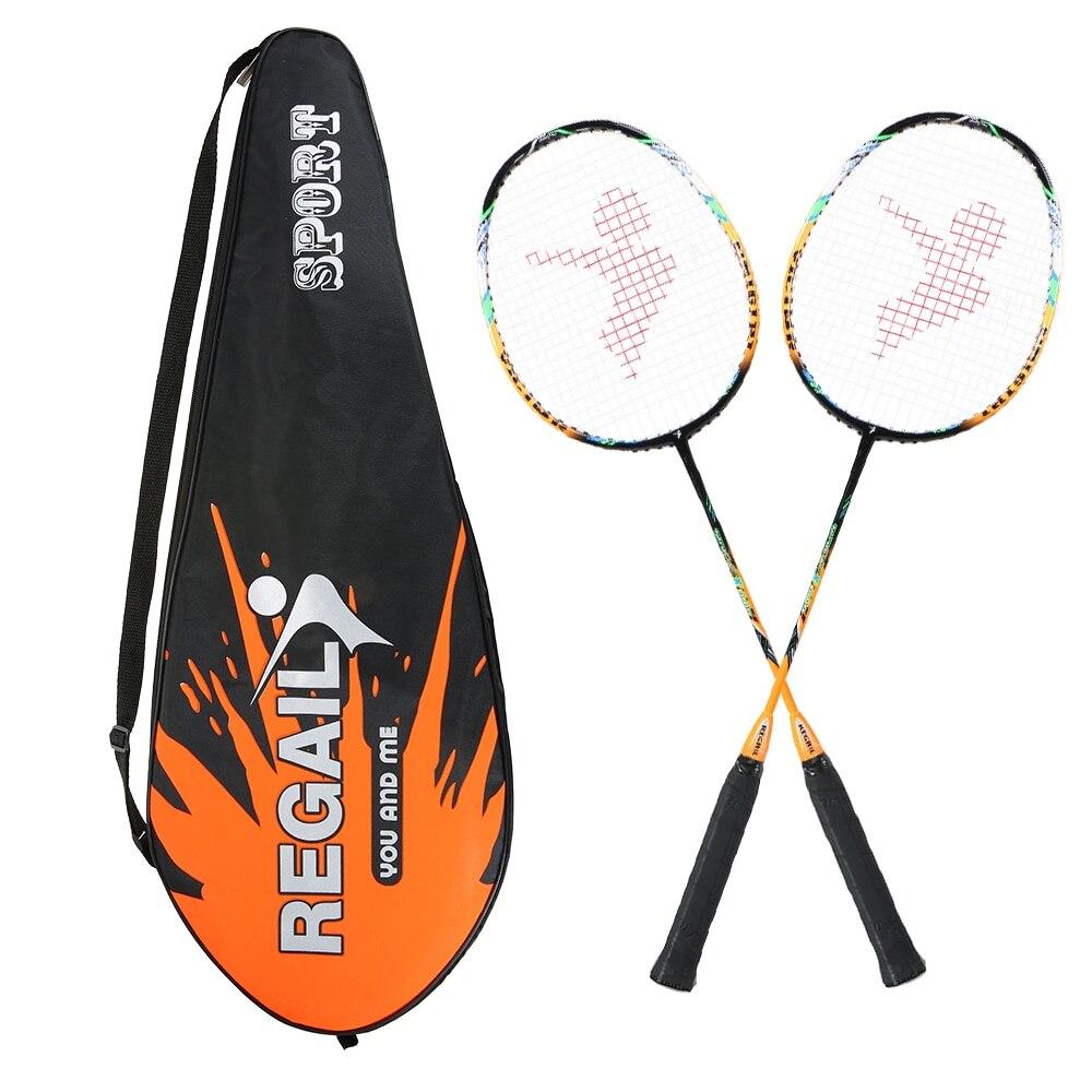 2 Player Bat Badminton Conjunto de Substituição Ultra Leve De Fibra De Carbono Raquete de Badminton com Saco