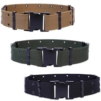 70 hot sell adjustable outdoor survival tactical emergency rescue canvas military waist belt