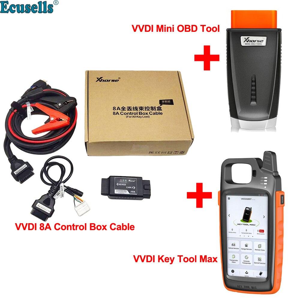 Xhorse VVDI Key Tool Max Remote and Chip Generator Plus Xhorse VVDI MINI OBD Tool 8A control box cable VVDI Super Chip XT27