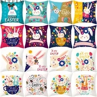 45x45cm bunny eggs easter cushion cover happy easter decorations for home sofa decor easter party pillow case supplies