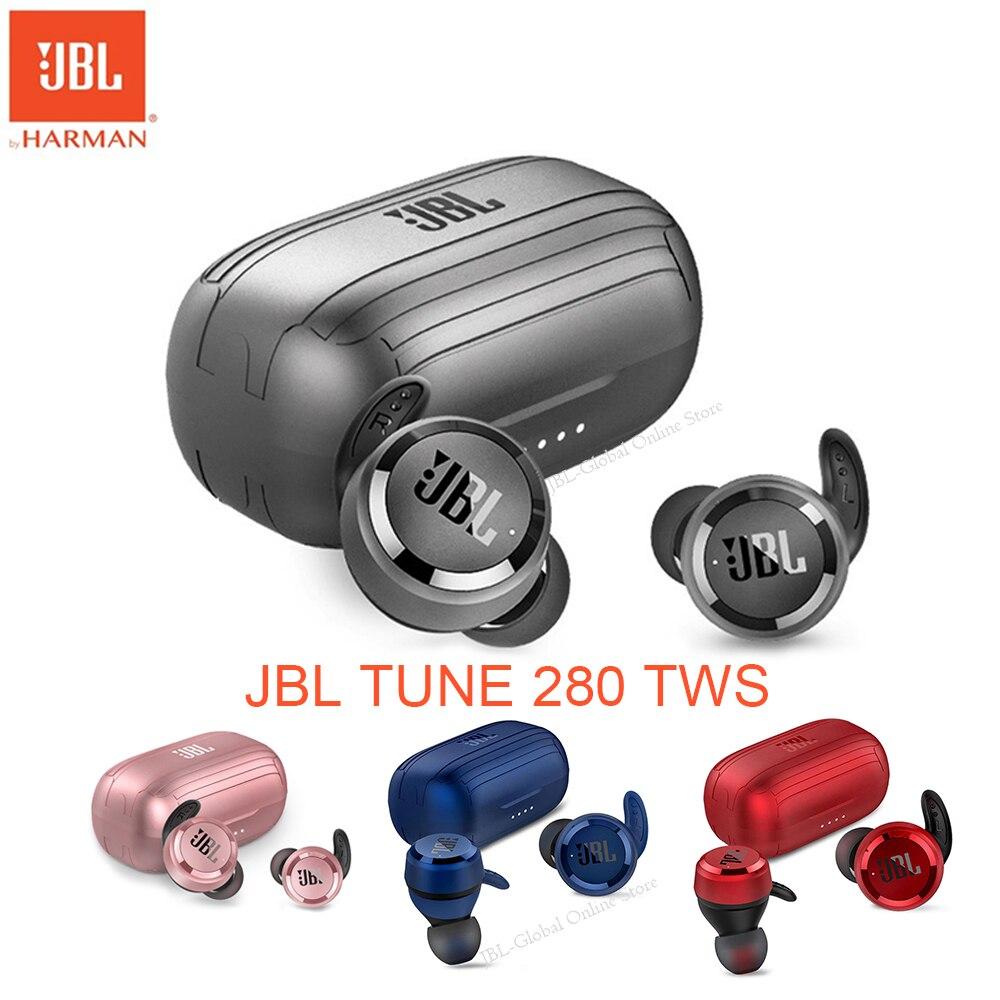 JBL TUNE 280 TWS Wireless Earphone T280TWS Sports Earbuds Deep Bass Waterproof Headset Bluetooth-com
