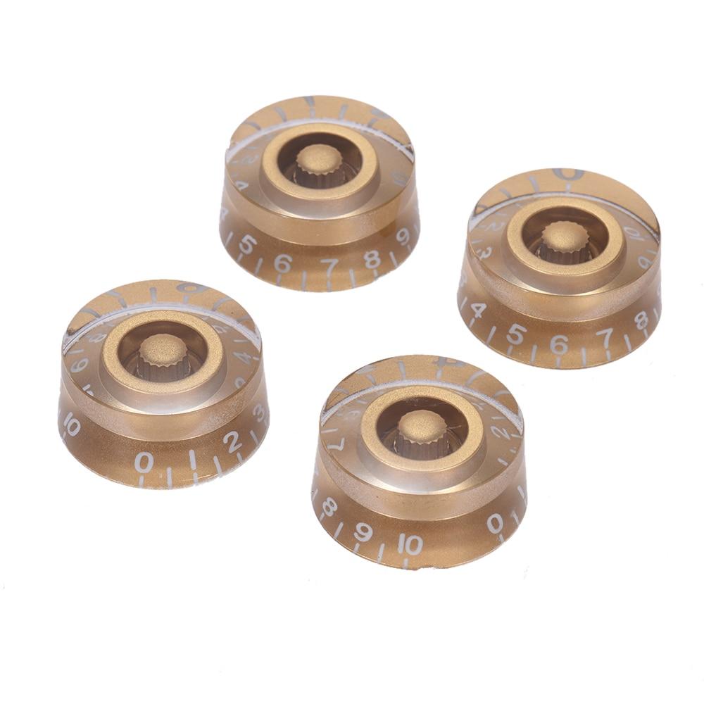 4 шт. регулятор скорости громкости ручки для Gibson Les Paul Гитара замена аксессуары для электрогитары золотой
