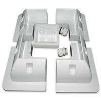 5Pcs/Set Frame Solar Module Corner Mounting ABS Bracket Kit Motorhome Caravan RV Boat Solar Panel Stand White