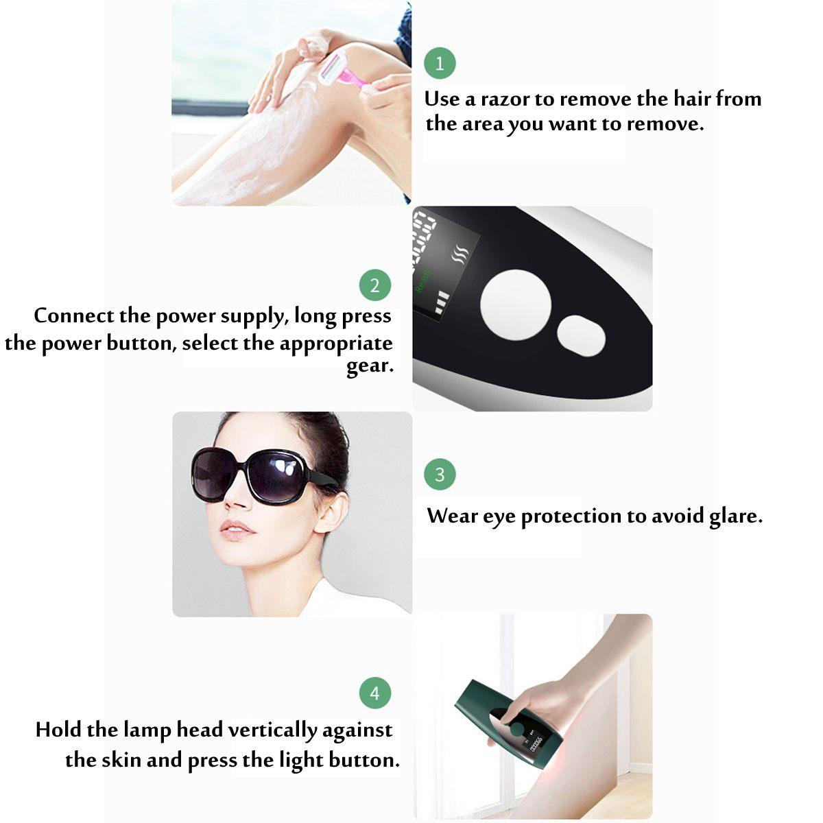 500000 Pulse IPL Laser Epilator Portable 5 Gear Depilator Machine Full Body Hair Removal Device Painless Personal Care Appliance enlarge
