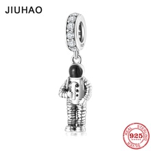 Mode 925 argent Sterling espace astronaute pendentifs perles ajustement Original breloque pandora Bracelet fabrication de bijoux