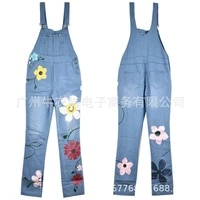 donsignet new fashion womens denim overalls printed thin overalls trousers jumpsuit women women one piece outfits
