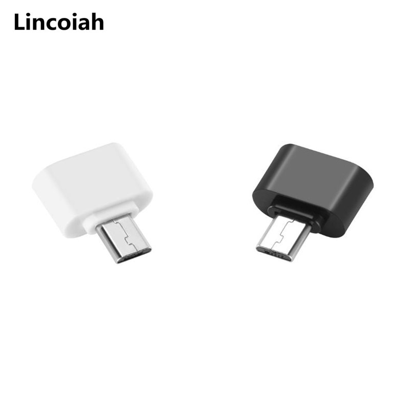 Male Micro USB B OTG to Female USB Type A Adapter On The Go Black for Smartphones Tablets Android Sa