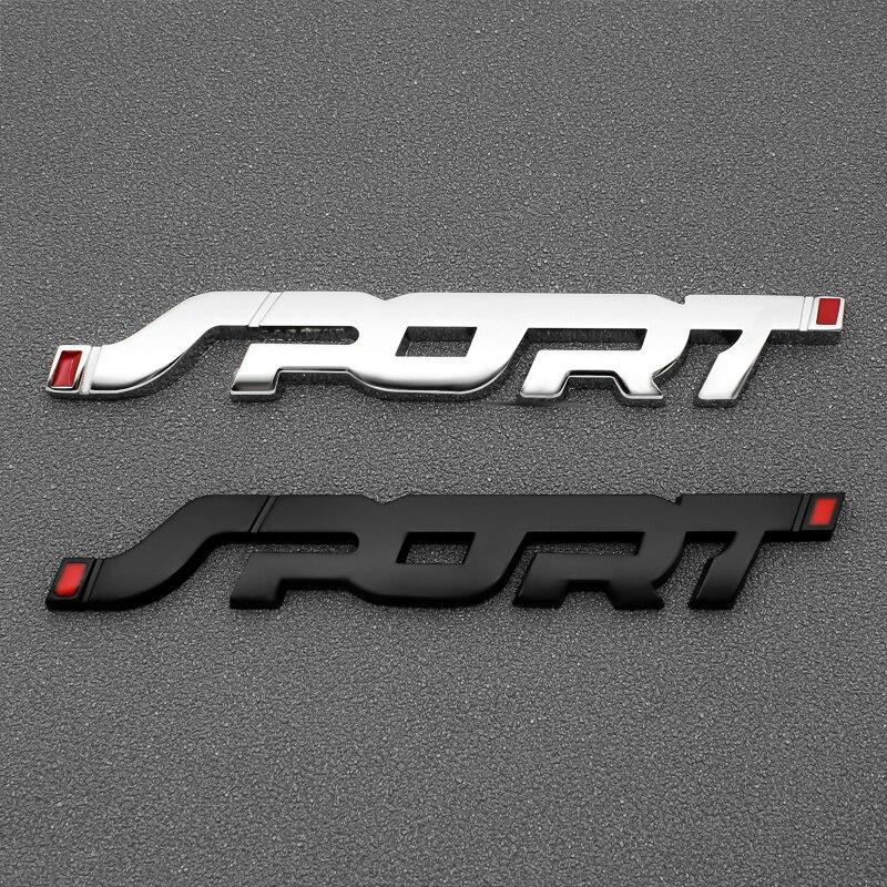 Pegatina de insignia del coche emblema 3D Sport cromado, pegatina de competición para puerta delantera, Logo lateral, adhesivo para maletero, accesorios de estilo de coche para automóviles