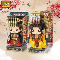 loz mini building blocks chinese emperor queen character dolls diy assembly action figures bricks toys for kids birthday gifts