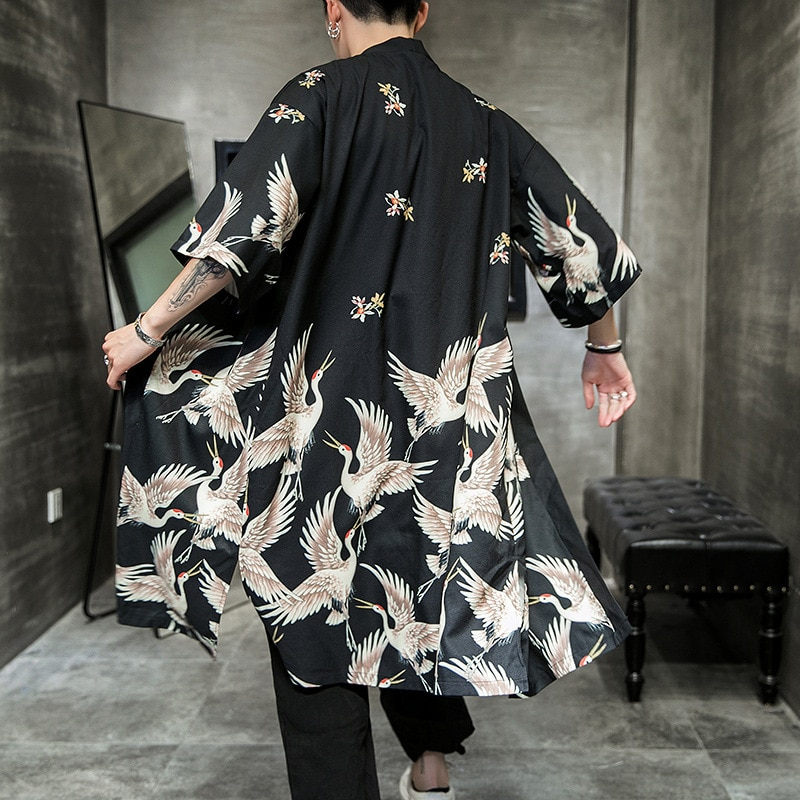 5XL Plus Size Yukata haori men Japanese Long kimono cardigan samurai costume clothing nightwear jacket robe kimono yukata haori diabolik lovers anime sakamaki ayato kanato laito shu reiji subaru mukami ruki samurai kimono rubber japanese rubber keychain