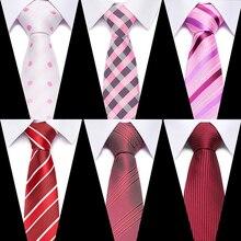 Boda 7,5 cm 100% de seda de lujo de los hombres corbata Jacquard Cravatta cuadros Floral Corbata a rayas lazos hombre Fromal accesorios de vestido de corbata