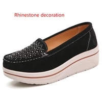 summer 2020 new flat shoes round head punk style wedge heel womens shoes rhinestone element platform shoes zapatillas mujer