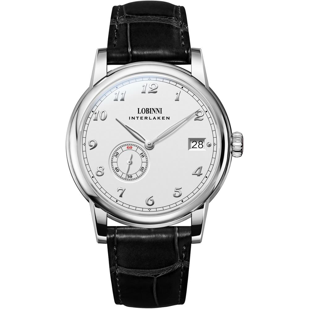 LOBINNI Luxury Mens Watches Fashion Men Automatic Watch Self-Wind Mechanical Wristwatch Ultrathin Sa