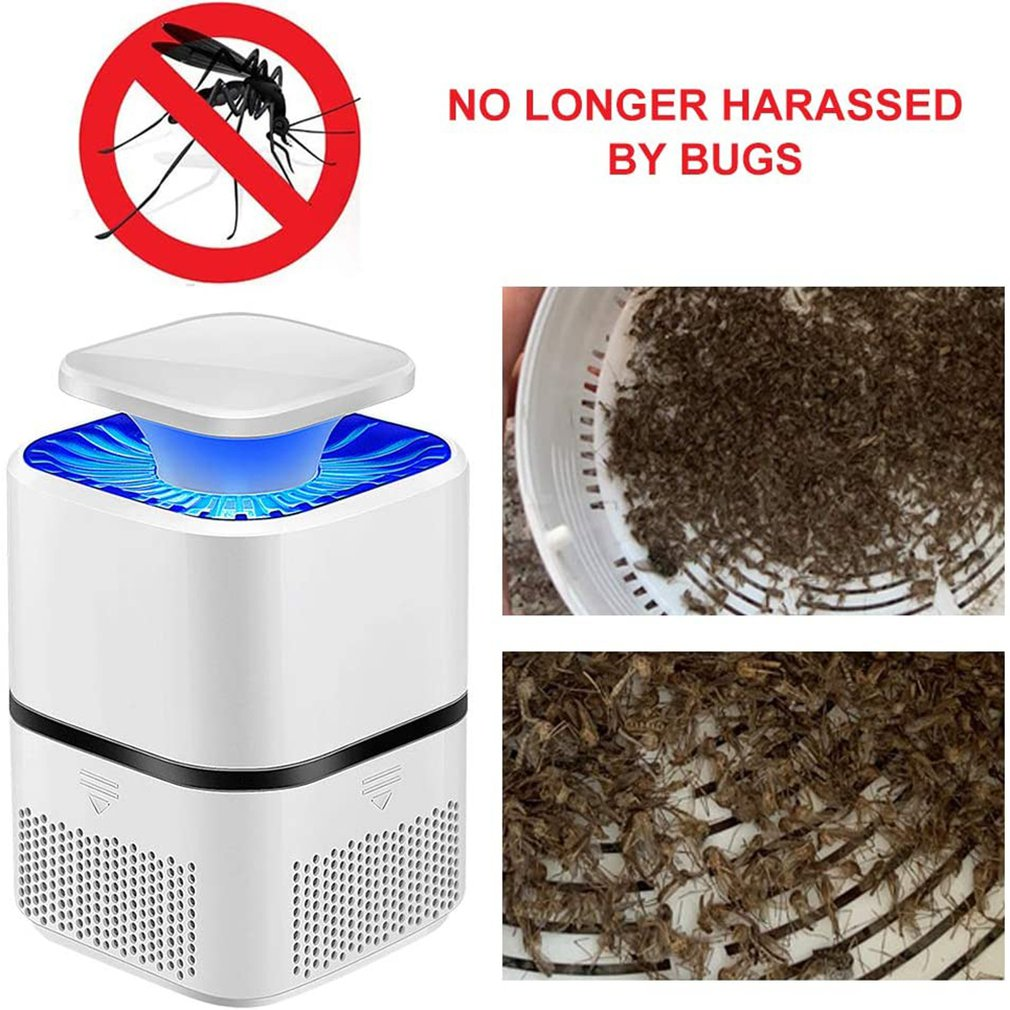Smart usb photocatalyst mosquito killing lamp home bedroom mosquito catching lamp suction type fly mosquito repellent