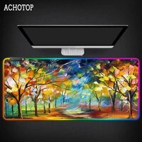abstract art mouse pad xl rgb mouse mat grande large gaming mousepad natural rubber luminous gamer pad mouse pc desk padmouse