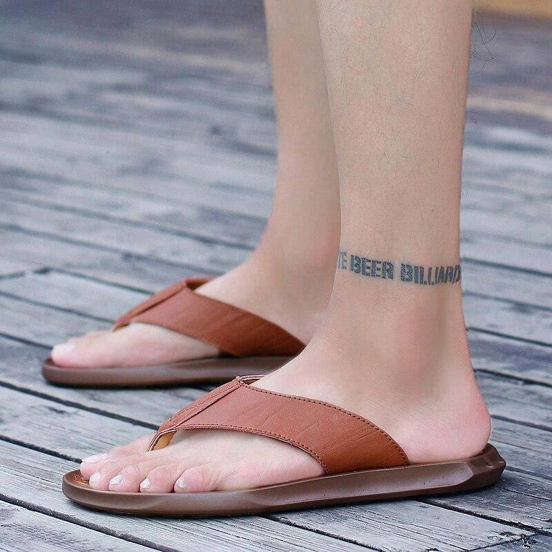 Sandalet Erkek Sandalias Cuero Hombre Summer Men Sandals Para Sandles For Playa Piel Sandali Da Uomo Sandales Cuir