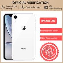 Alibaba 99% New Apple iPhone XR, 64GB/128GB ROM, 6.1inch Full Screen iOS Apple Phone 12MP Camera Face ID NFC GPS Mobile Phone