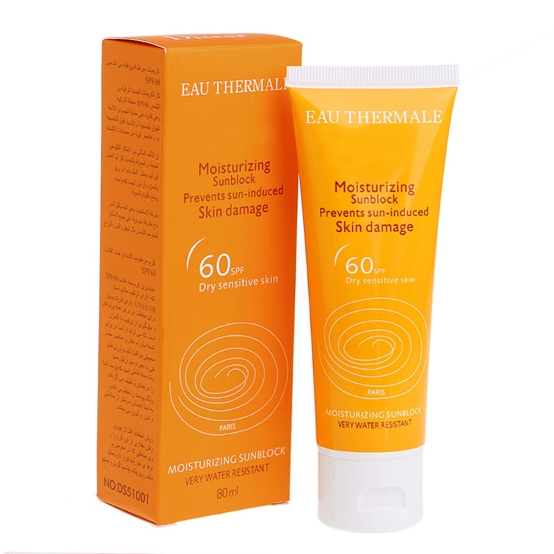 Protector solar SPF 60 + crema hidratante bloqueadora solar para piel seca sensible 80ml