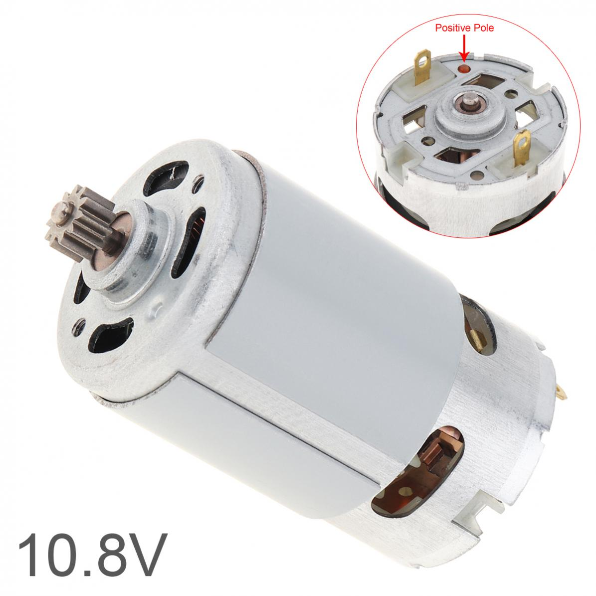 RS550 10.8V 19500 RPM DC Motor with Two-speed 11 Teeth and High Torque Gear Box for Cordless Charge Drill Screwdriver rs550 dc motor 12v 16 8v 21v 25v 19500 rpm dc motor two speed 9 12 teeth high torque gear box for electric drill screwdriver