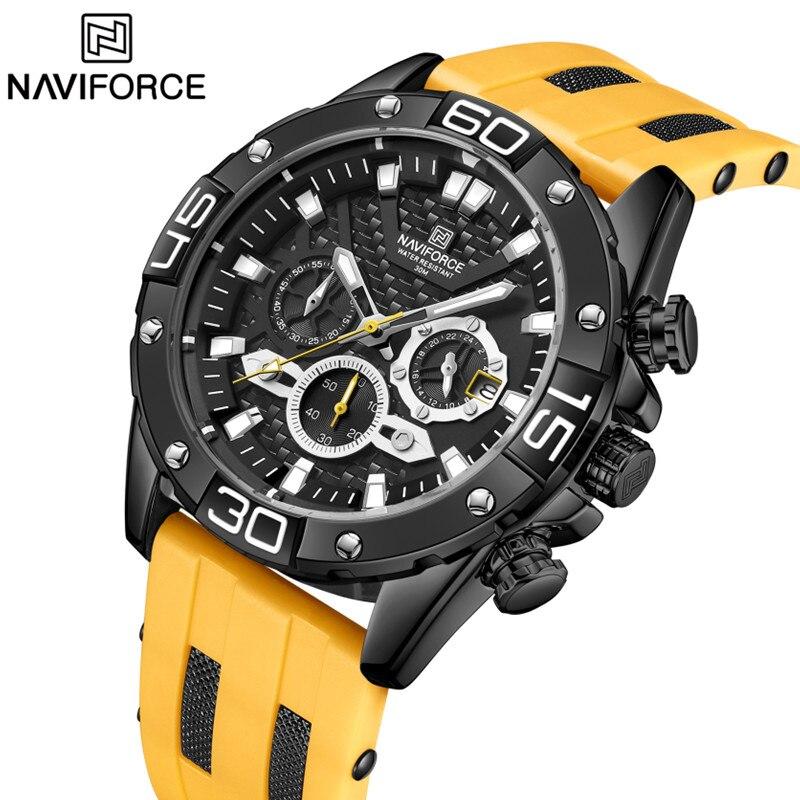 NAVIFORCE New Fashion Top Brand Watch For Men Luxury Quartz Waterproof Man Watch Military Sport Male Clock Relogio Masculino