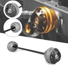 MTKRACING kit de protection de roue de fourche de curseurs dessieu avant et arrière pour BMW C650GT C650 GT C600 C650 Sport 2012-2015