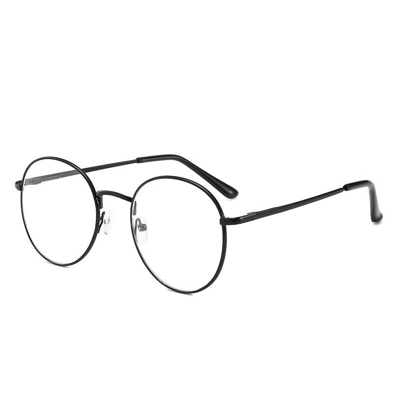 Gafas de lectura para mujer, montura redonda de Metal, gafas para miopía, lentes transparentes para hombres, gafas ópticas, dioptrías-1 to -6