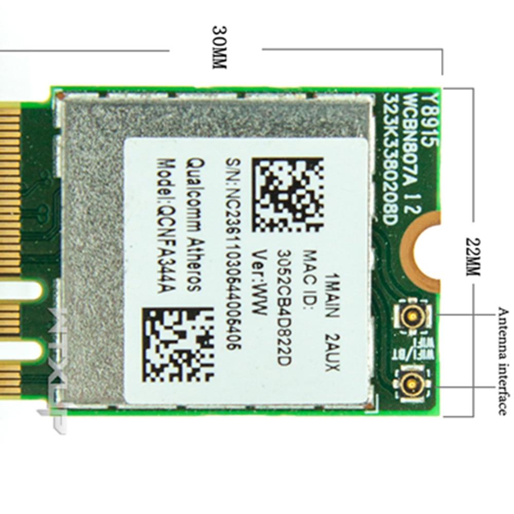 Adaptador inalámbrico de banda Dual wifi, tarjeta NGFF, Qualcomm Atheros, AC, Wi-Fi,...