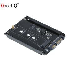 B + M Key M.2 NGFF SSD à 2.5 SATA 6 Gb/s adaptateur m2 vers SATA convertisseur avec boîtier métallique à 5 vis