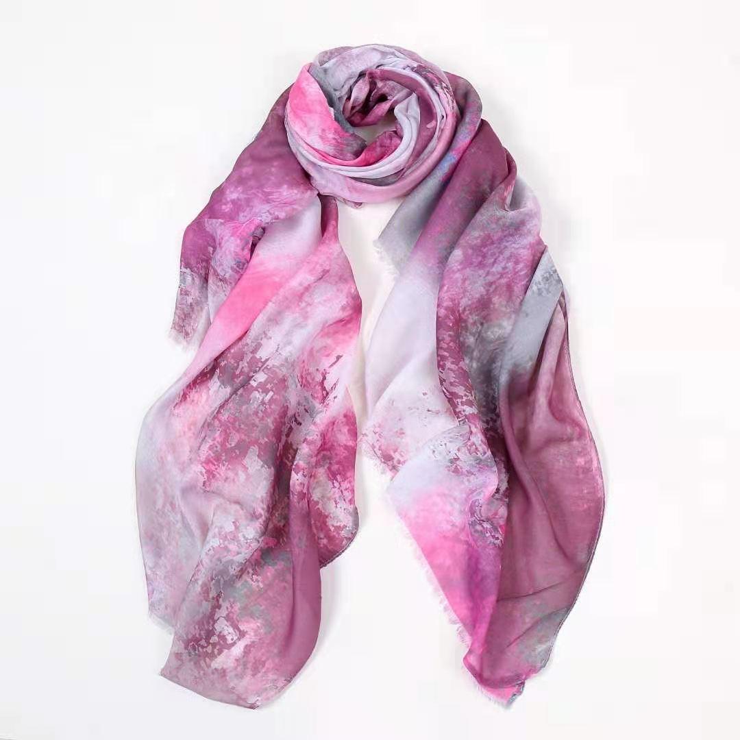 2021 النساء أزياء القطن مجردة نمط هامش وشاح شالات لينة التفاف الحجاب 6 اللون 10 قطعة/الوحدة