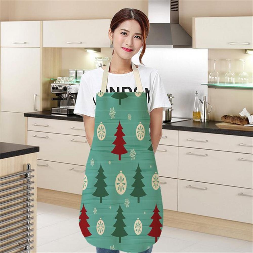 фартук кухонный apron delantal cocina Christmas Apron Xmas Decor Pendant Adult Bibs Home Kitchen Cooking Accessories avental A40