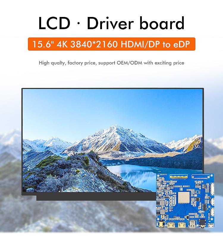 15.6 polegada 4k lcd largo ips 3840*2160 paisagem com 40 pinos edp com luz de fundo hdmi placa de motorista para o portátil ou industrial