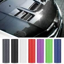 3D fibre de carbone voiture rouleau de papier demballage film voiture autocollants et décalcomanies moto voiture style accessoires 127cm x 10cm