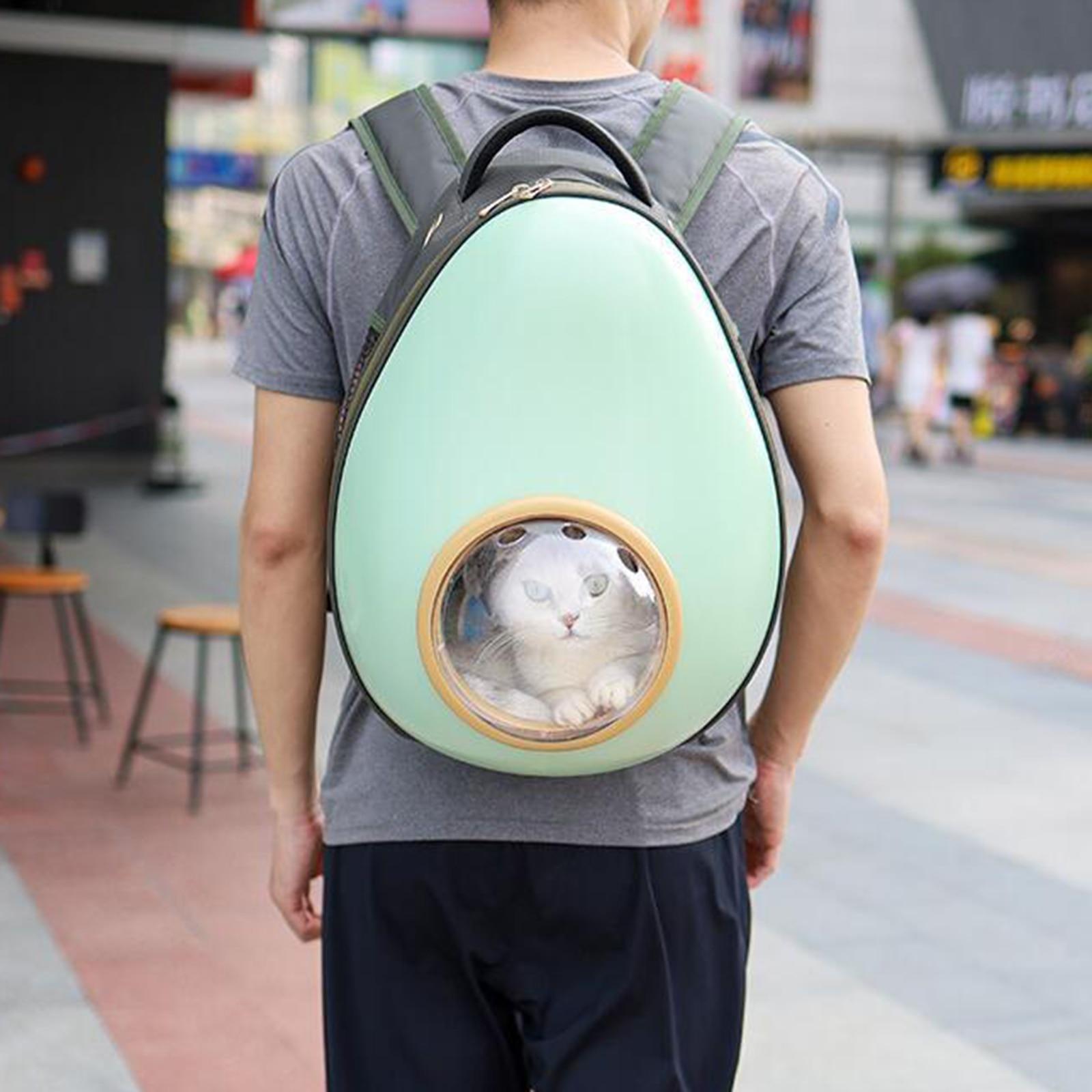 Filhote de Cachorro Portátil Transportadora Mochila Espaço Cápsula Gato Respirável Bolsa Pet