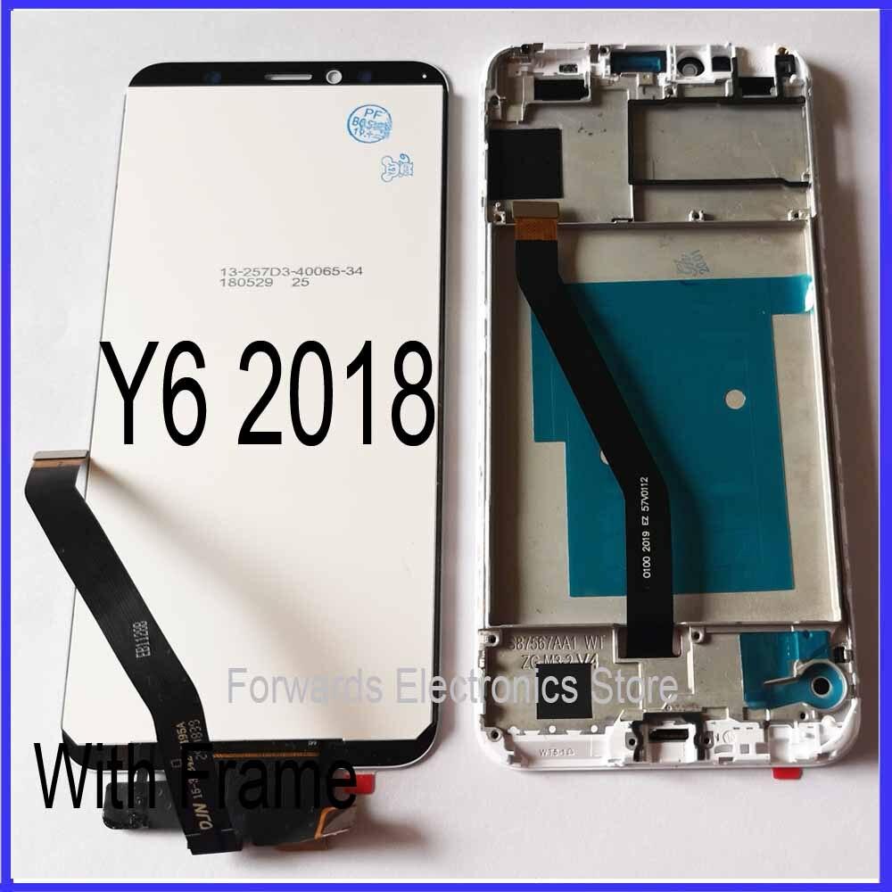 Para Huawei Y6 2018 pantalla LCD Y6 Prime 2018 ATU L11 L21 L22 LX1 LX3 L31 L42 con touch con montaje de Marco