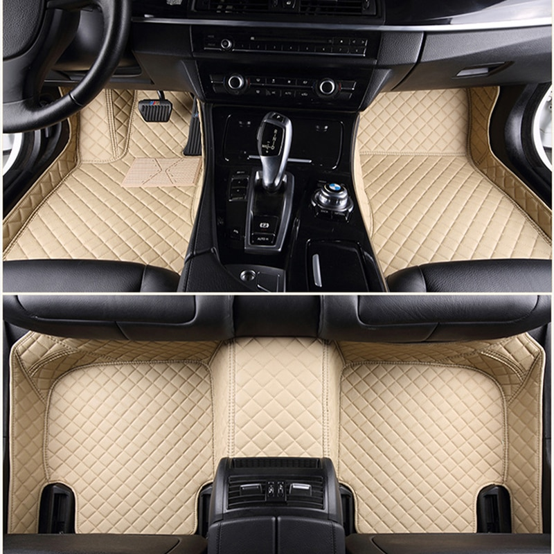 Custom 5 Seat car floor mats for vw Scirocco Santana Sharan Tiguan touareg car mats auto accessories