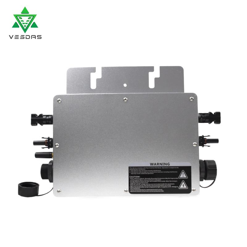 Wvc700 700w micro inversor grid tie inversor inversor à prova dwaterproof água mppt inversor 110v 220v ac para 60 72 células painel solar pv