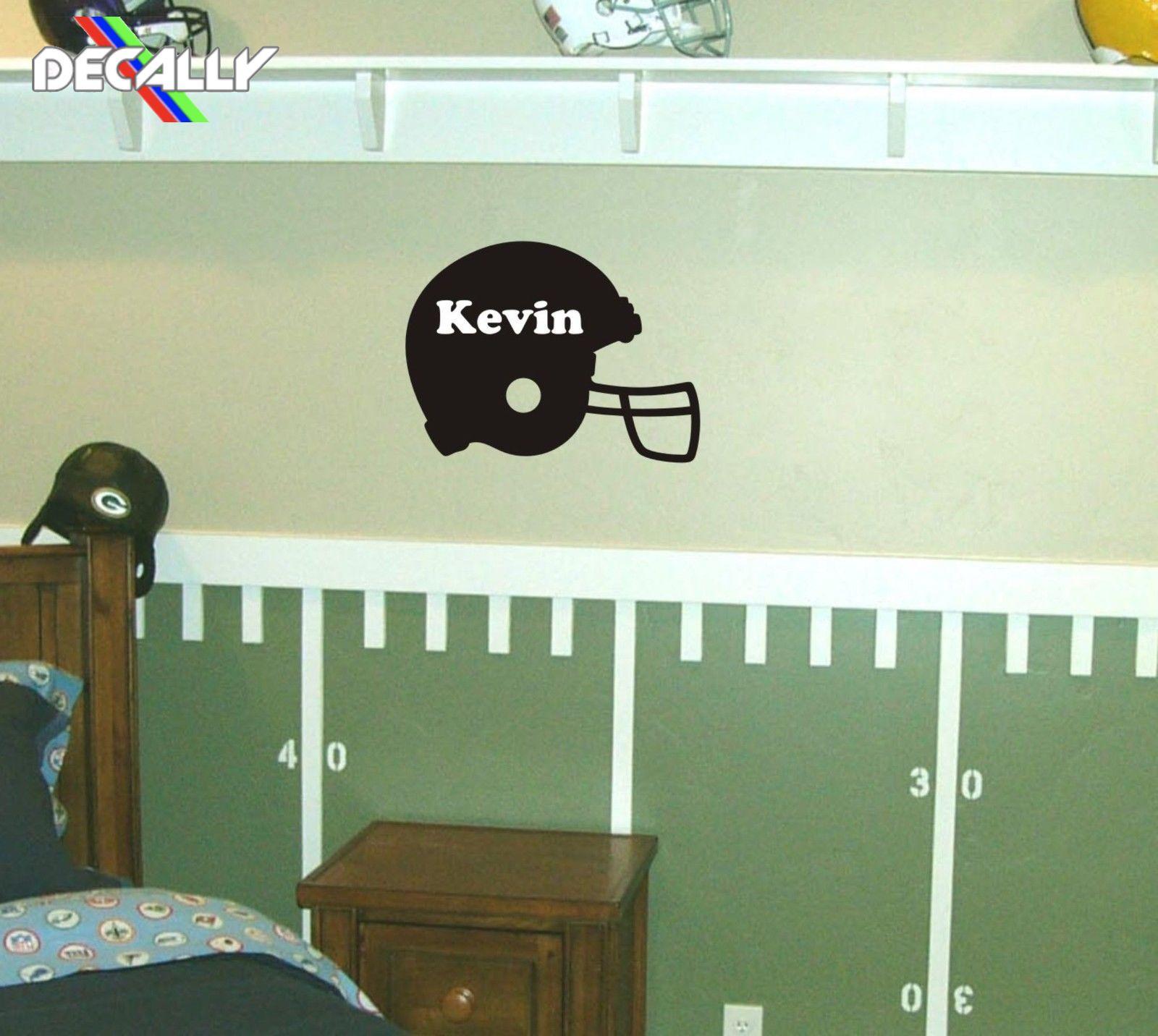 Personnalisé casque de Football autocollant mural autocollant amovible enfants chambre décor décorer chambres autocollant mural