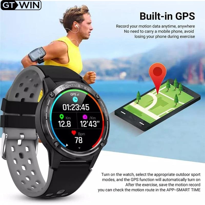 Relógio para Mulheres dos Homens Atividade de Fitness Vida à Prova Água para Android Gtwin Novo Relógio Inteligente Esporte Gps 2021 Dwaterproof Ios m6