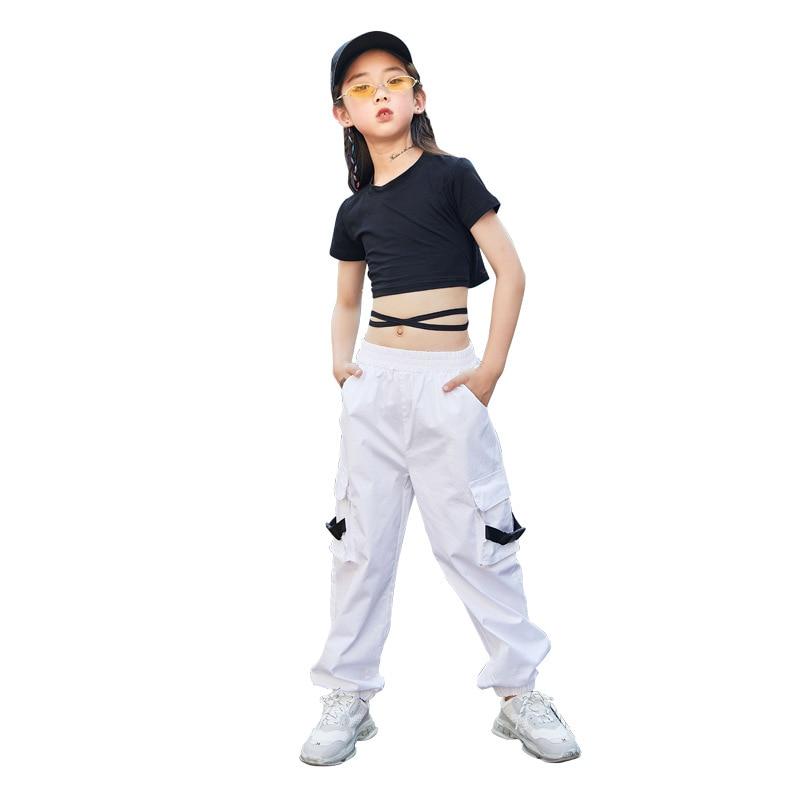 Moda para niños camiseta de manga corta negra de hip-hop pantalones de...