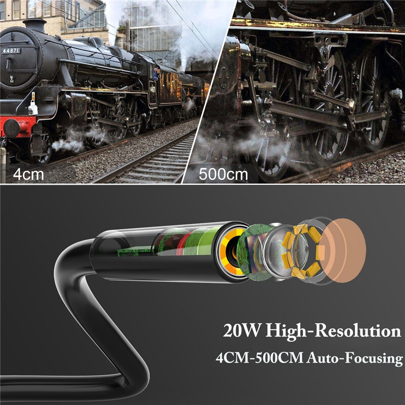 8MM Borescope 1080P HD 6 LED Fill Light Photograph Video Industrial Inspection Camera Waterproof Lens with 4.3InLCD Screen enlarge