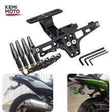 Moto Targa Posteriore Supporto Del Supporto e Accendere La Luce di Segnale Per La Honda Per Kawasaki Z750 Z800 Per YAMAHA MT07 MT09 MT10 R1 3