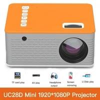 UNIC UC28D Mini Projecteur LED Portable Home Cinema USB TF CARTE U Disque AV IR VIDEO MULTIMEDIA Lecteur Audio Enfants Theatre Jeu Projecteur