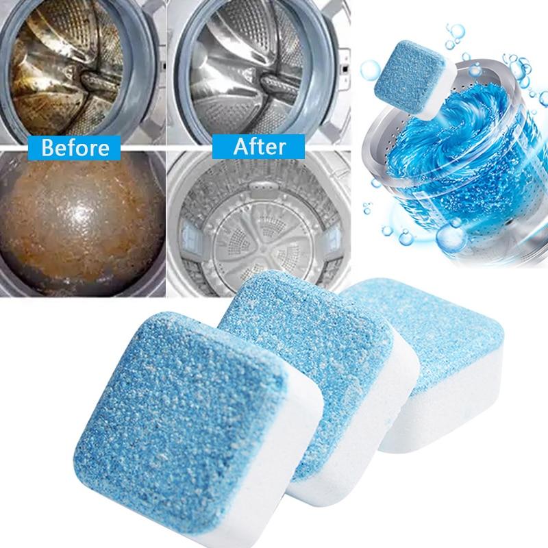 5/10/20 guia máquina de lavar roupa mais limpa lavadora limpeza detergente efervescente tablet cleaner máquina de lavar roupa ferramentas de limpeza doméstica