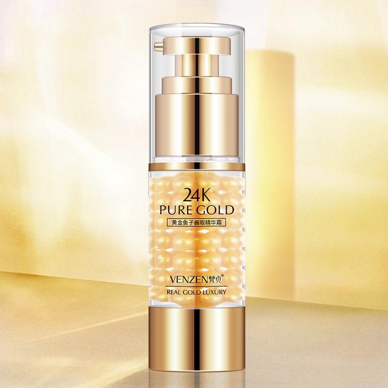 Caviar 24k oro amarillo Crema para Ojos firme Lift Eye Serum crema hidratante para ojos JIU55