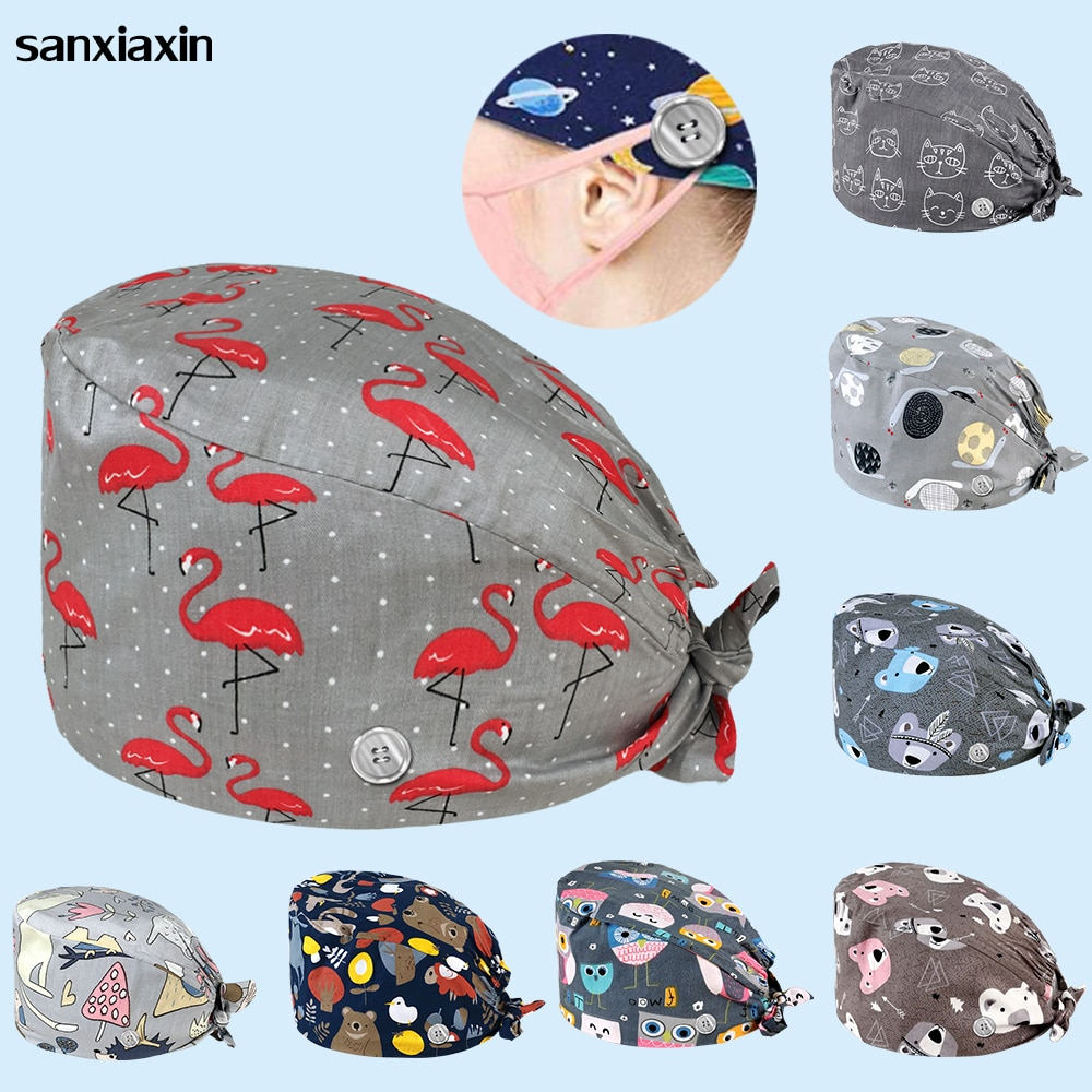 unisex surgical caps operating room caps nurses hats veterinary pet with beauty salons Eye hospital