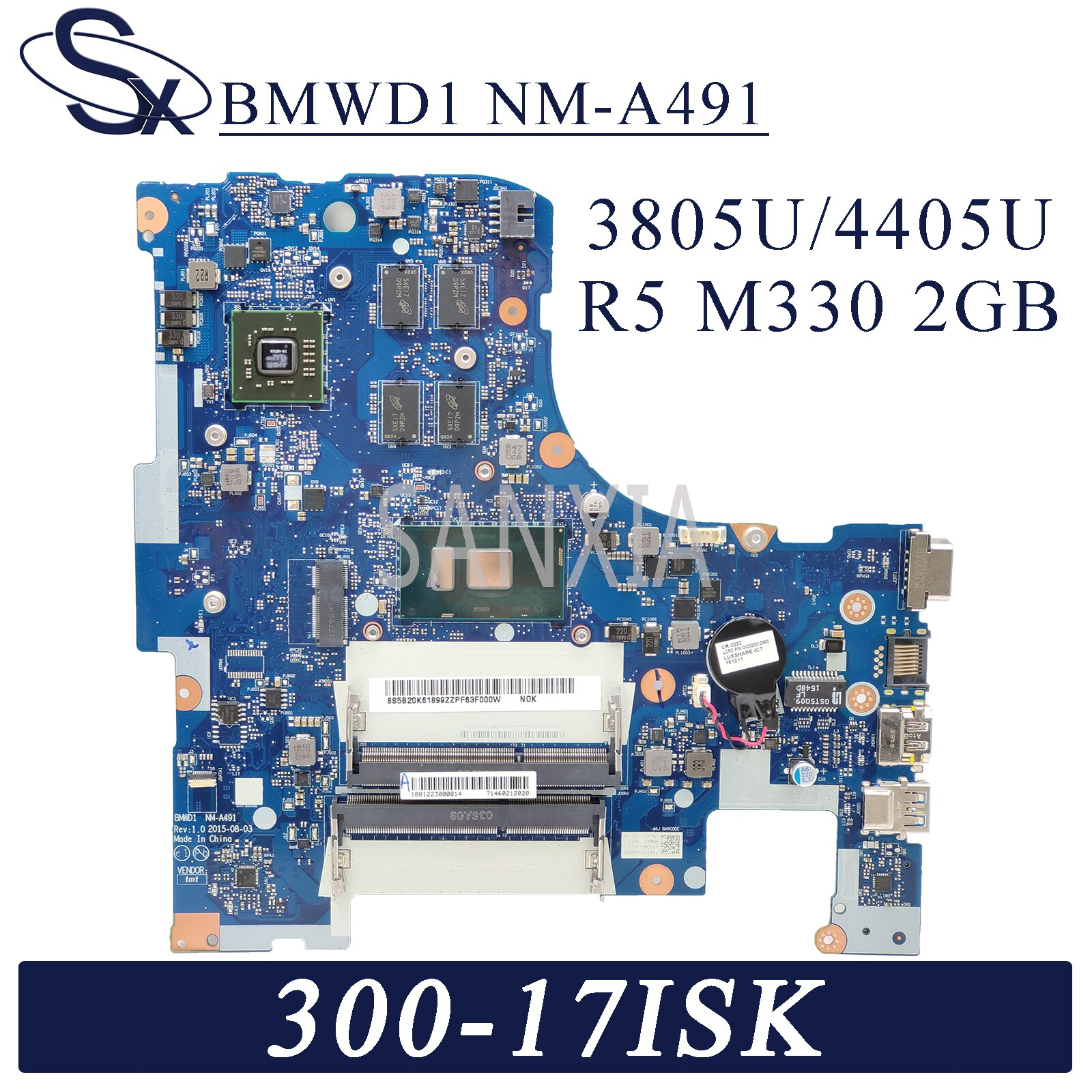 KEFU NM-A491 اللوحة المحمول لينوفو Ideapad 300-17ISK اللوحة الأصلية 4405U/3805U R5-M330