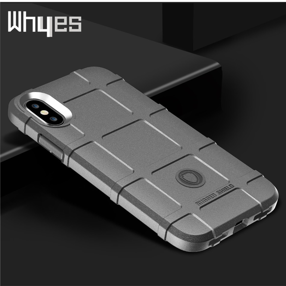 Funda para Iphone 11 Pro XS Max XR X 8 7 6S Plus silicona militar estilo pesado funda protectora para Iphone XR SE