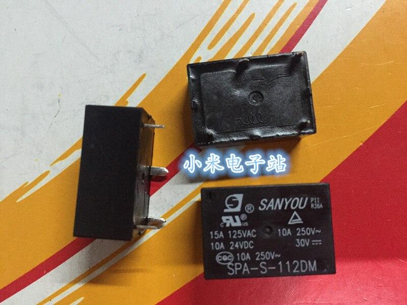 SPA-S-112DM ثلاثة أصدقاء تتابع 12VDC 4 أقدام عادة مفتوحة 10A 250V HF7520 012-HSP